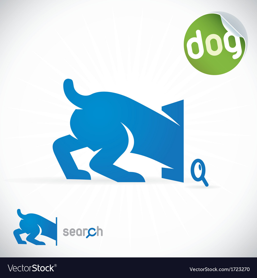 Dog search icon vector | Price: 1 Credit (USD $1)