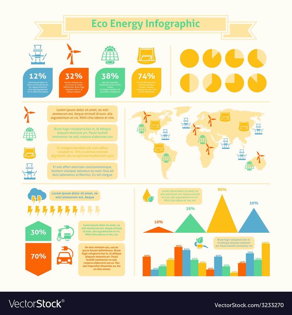 Eco energy infographic print vector | Price: 1 Credit (USD $1)