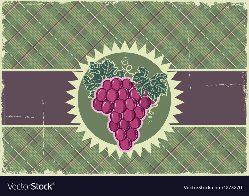Grapes label background vector   Price: 3 Credit (USD $3)