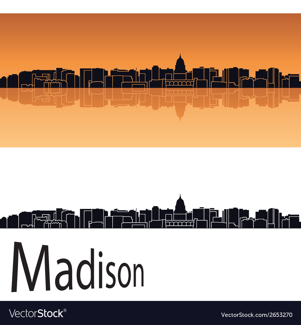 Madison skyline vector | Price: 1 Credit (USD $1)