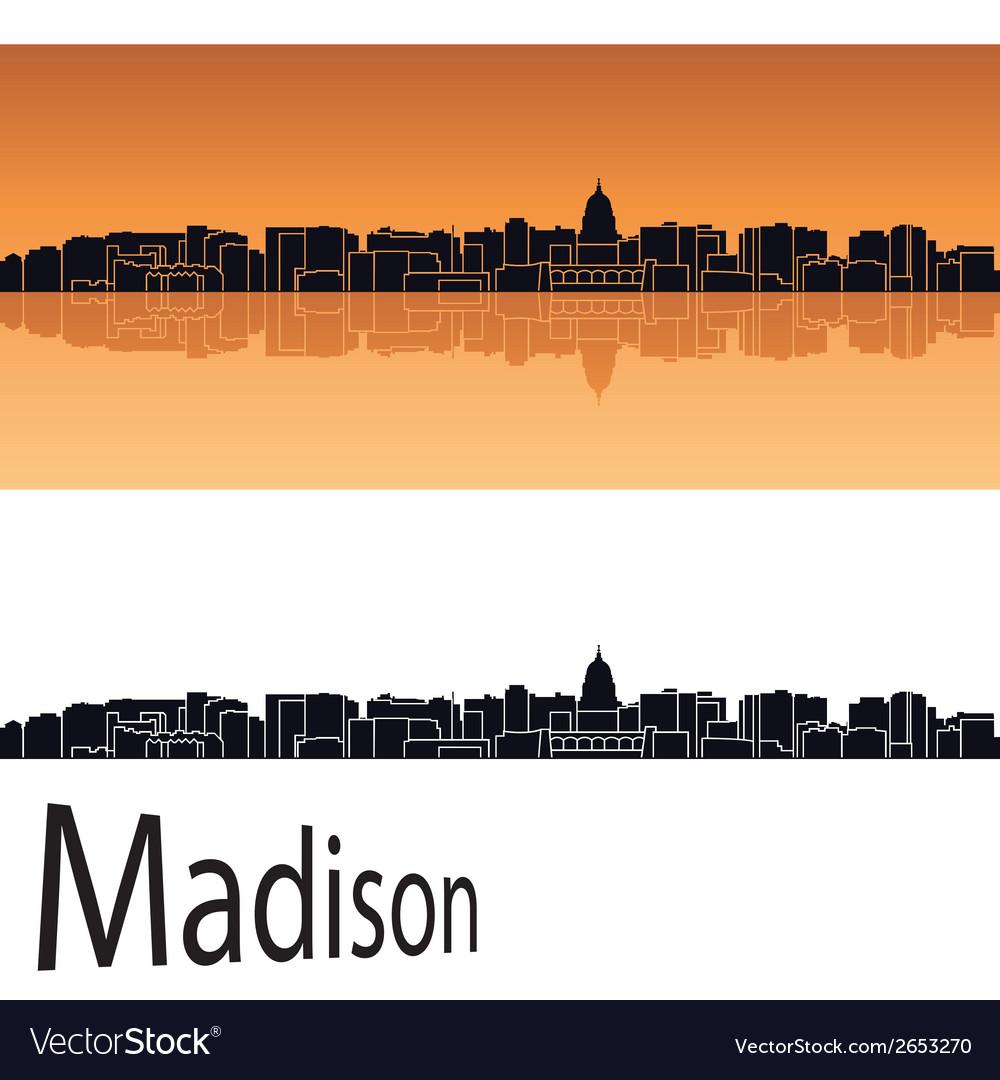 Madison skyline vector | Price: 1 Credit (USD $1)