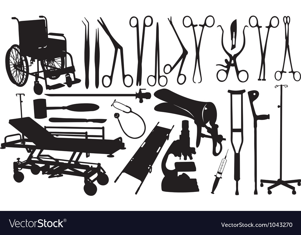 Medical equipment set vector | Price: 1 Credit (USD $1)