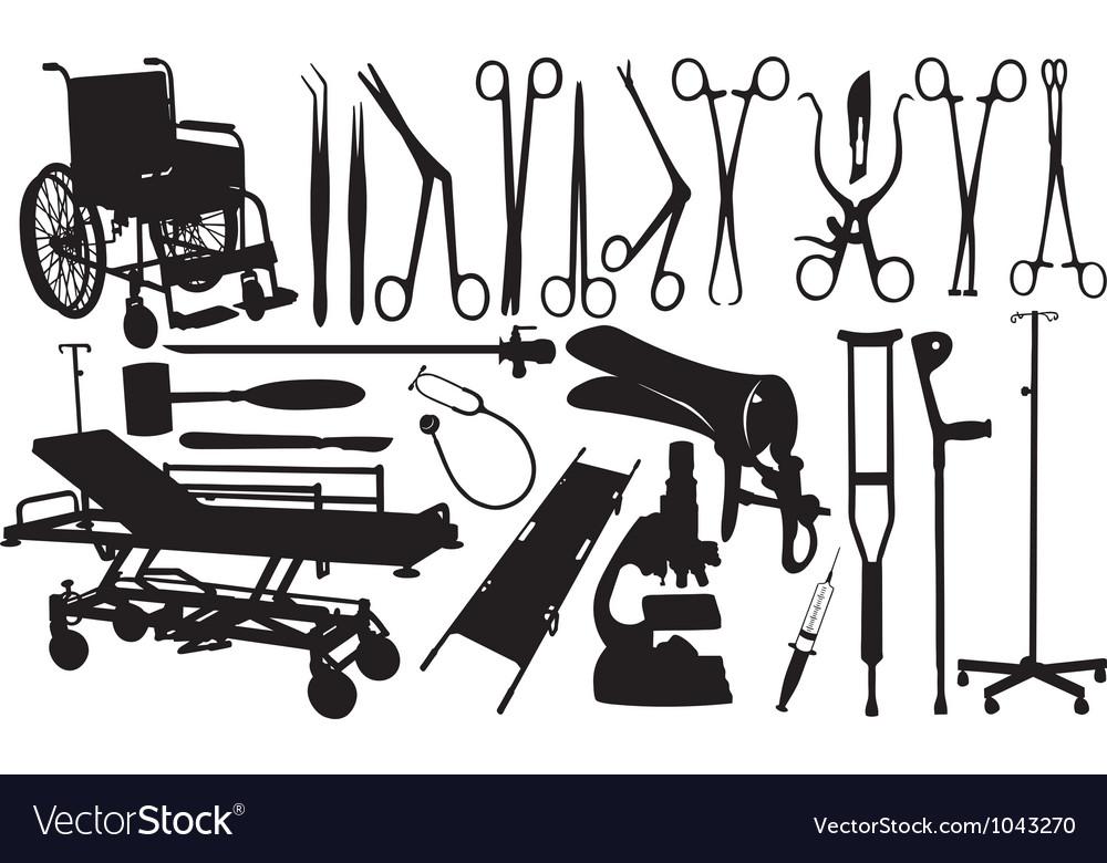 Medical equipment set vector | Price: 1 Credit (USD $1)