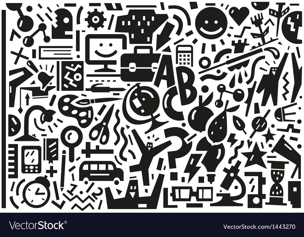 School  education - doodles set vector | Price: 1 Credit (USD $1)