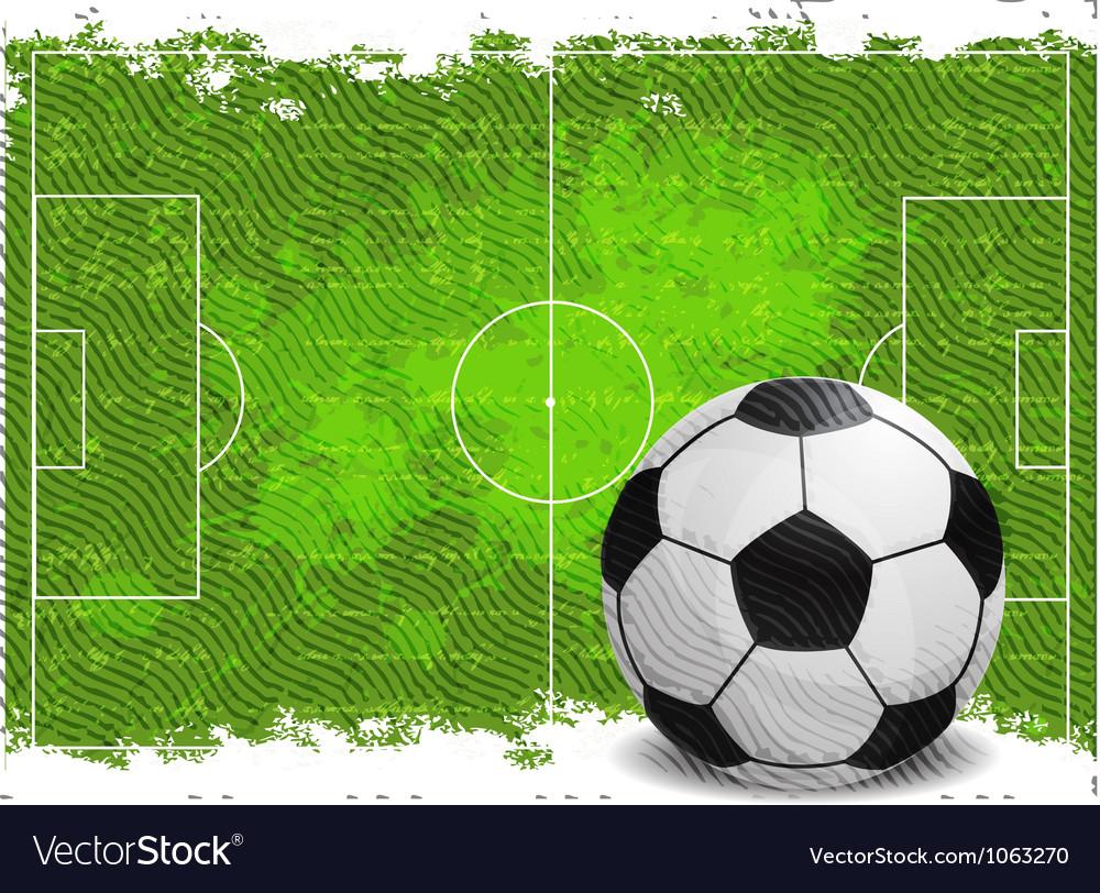 Soccer field vector | Price: 1 Credit (USD $1)