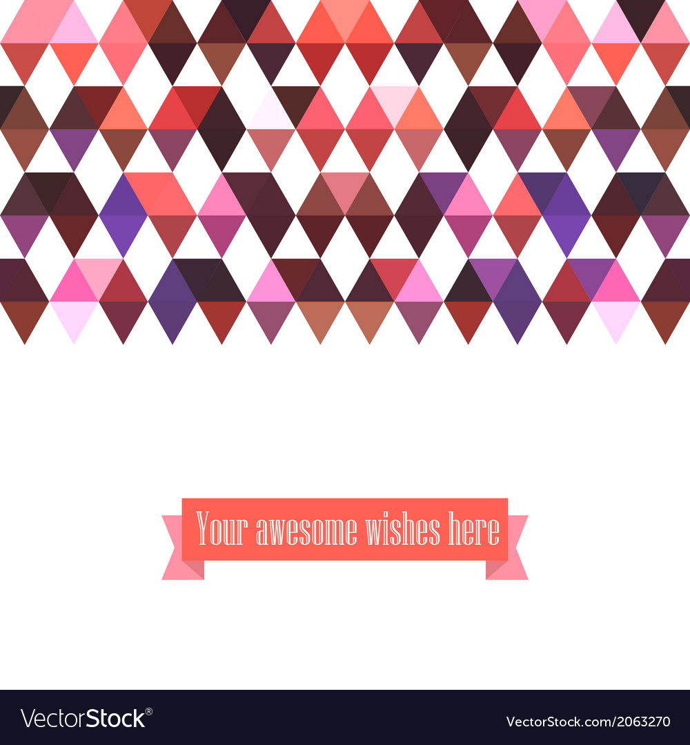 Triangle template background triangle background vector | Price: 1 Credit (USD $1)