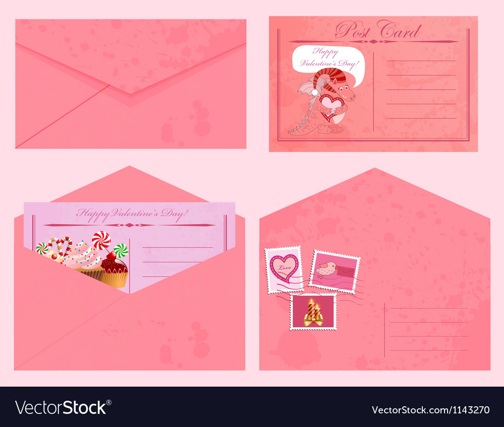 Valentine day post vector | Price: 1 Credit (USD $1)