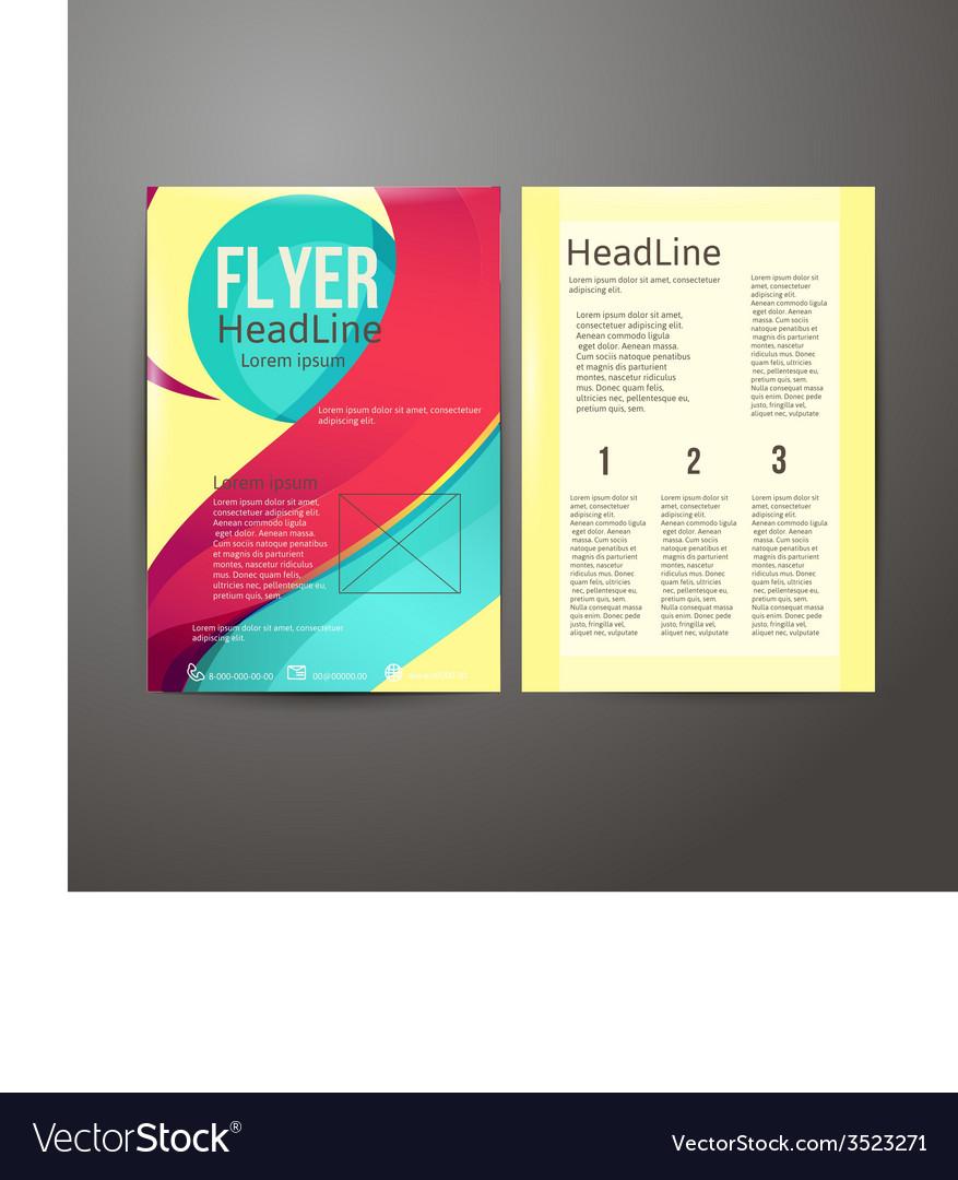 Abstract brochure flyer design vector   Price: 1 Credit (USD $1)