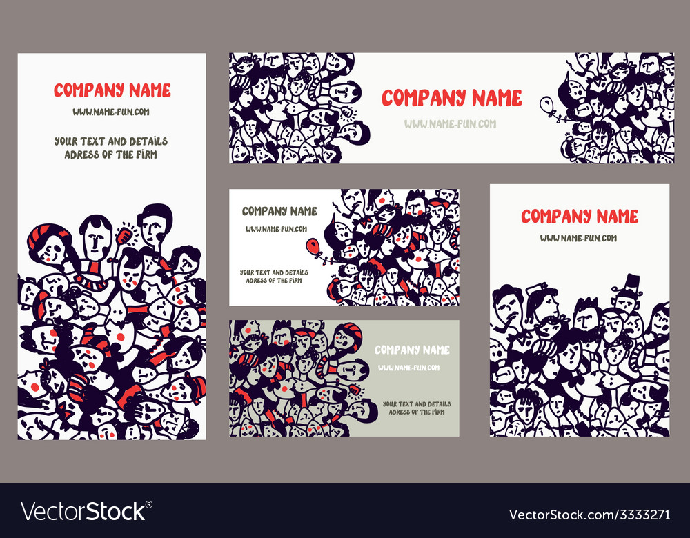 Business cards and banners for the company vector | Price: 1 Credit (USD $1)