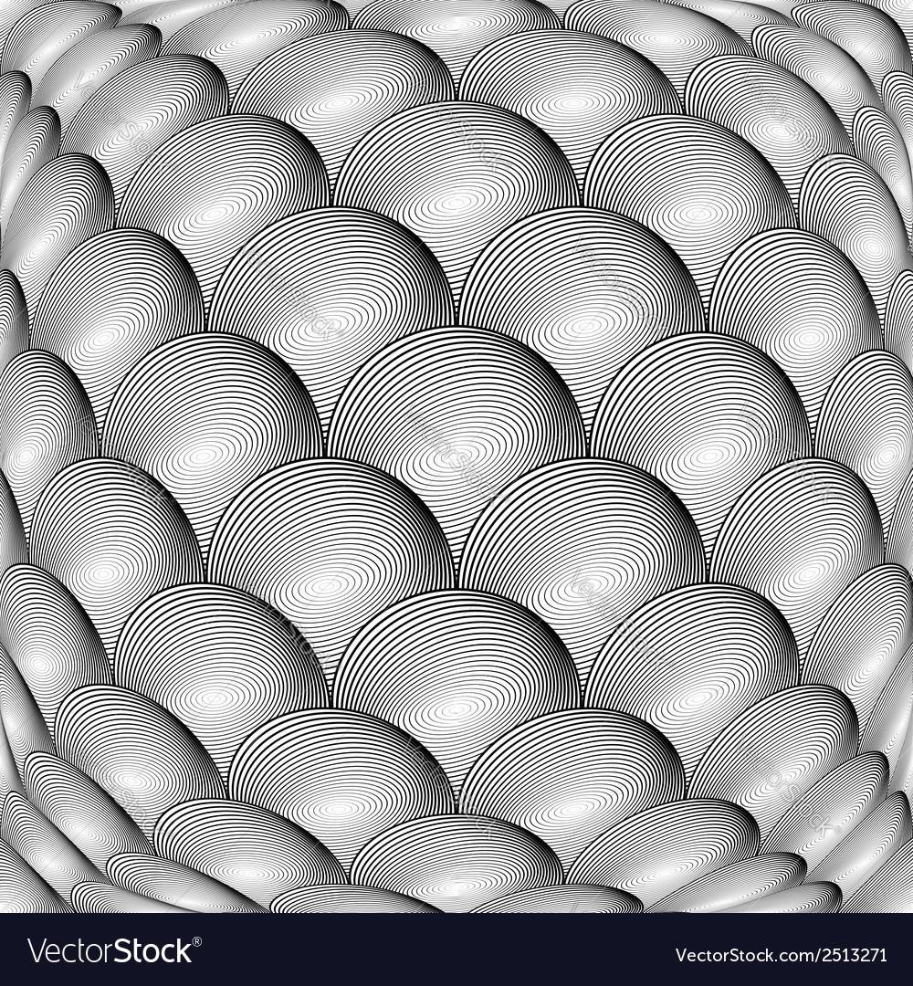 Design monochrome warped grid sphere pattern vector | Price: 1 Credit (USD $1)