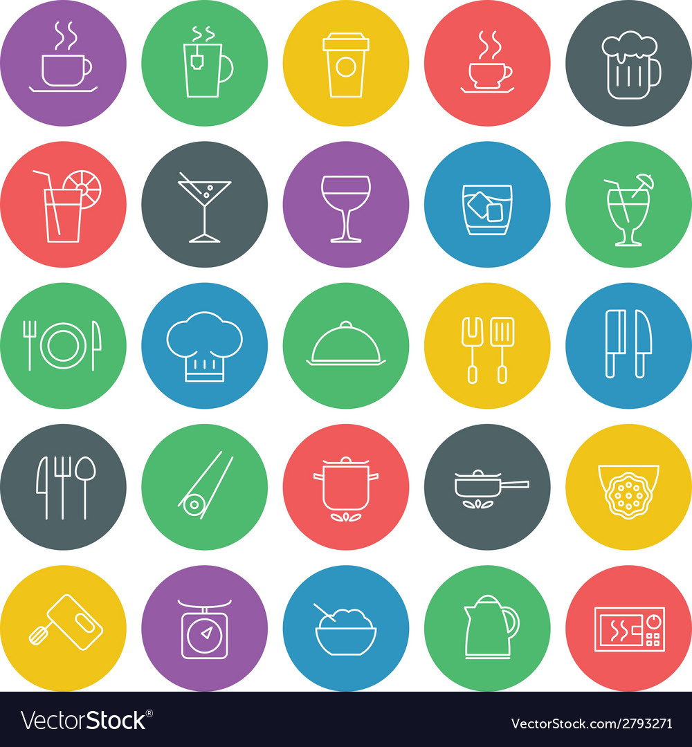 Food icons set for web site design and mobile apps vector | Price: 1 Credit (USD $1)
