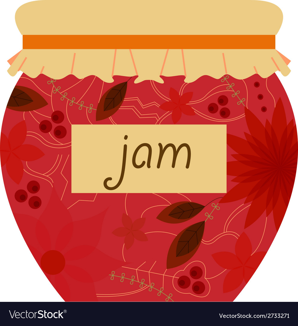 Jam jar retro vector | Price: 1 Credit (USD $1)