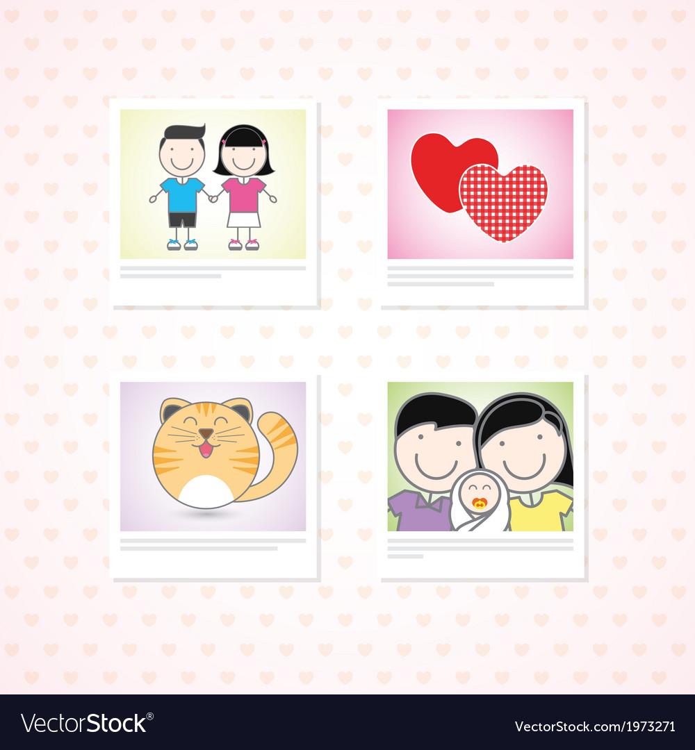 Love photo memories vector | Price: 1 Credit (USD $1)