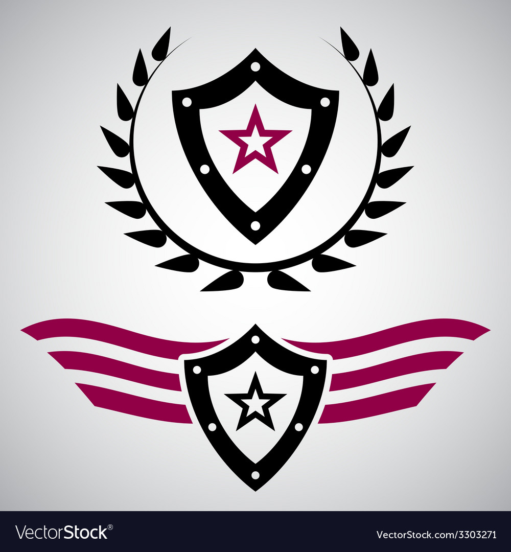 Military style grunge emblems vector | Price: 1 Credit (USD $1)