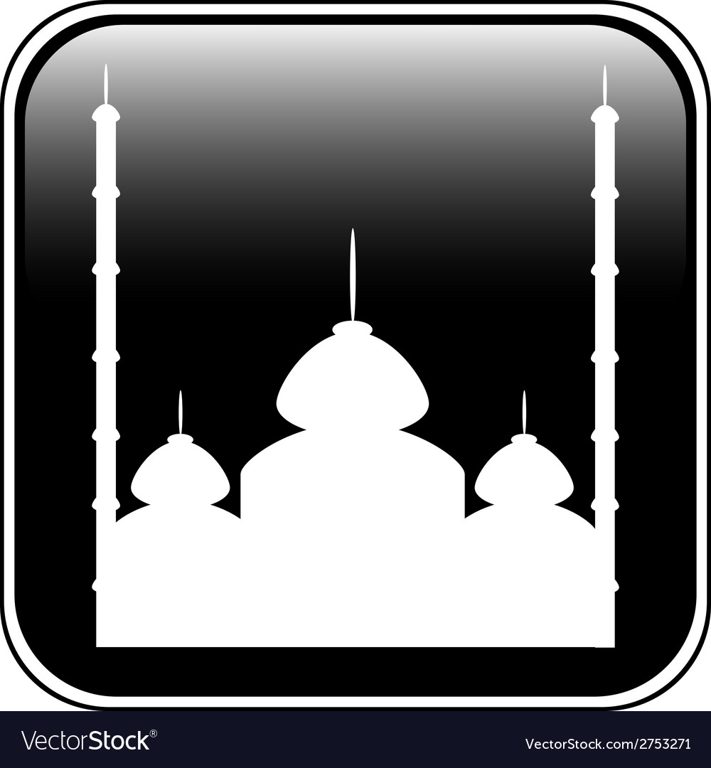 Mosque button vector | Price: 1 Credit (USD $1)