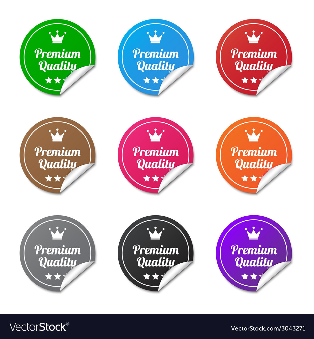 Premium quality stickers vector | Price: 1 Credit (USD $1)