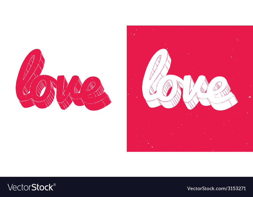 Red love vector | Price: 1 Credit (USD $1)