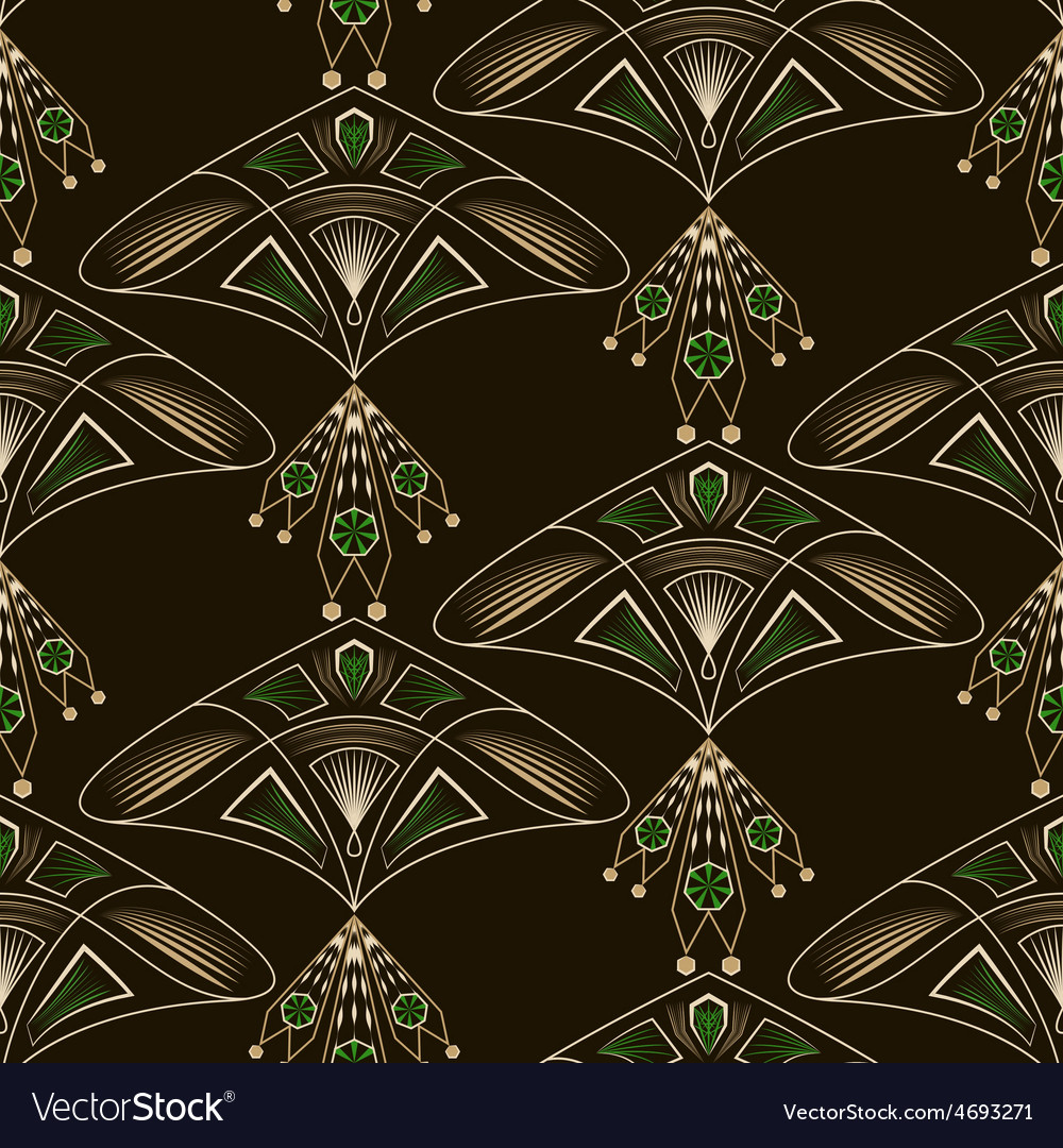 Seamless beautiful antique lace pattern ornament vector | Price: 1 Credit (USD $1)