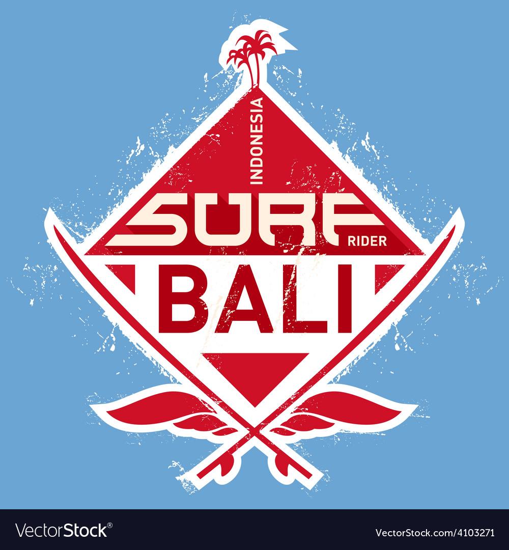 Surf tee vintage design vector | Price: 1 Credit (USD $1)