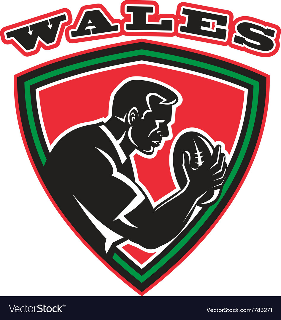 Wales rugby shield vector | Price: 1 Credit (USD $1)