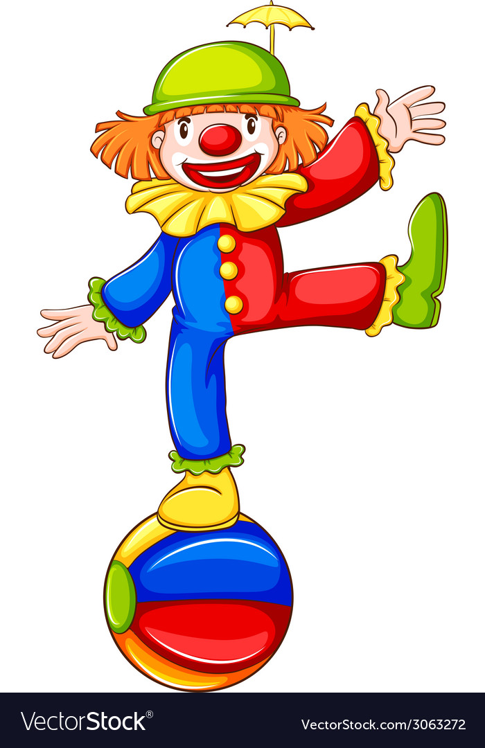 A coloured sketch of a clown vector | Price: 1 Credit (USD $1)