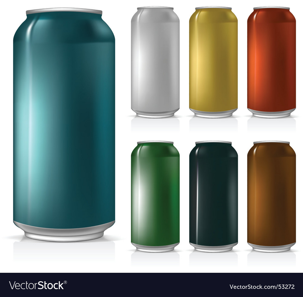 Beer can set vector | Price: 1 Credit (USD $1)
