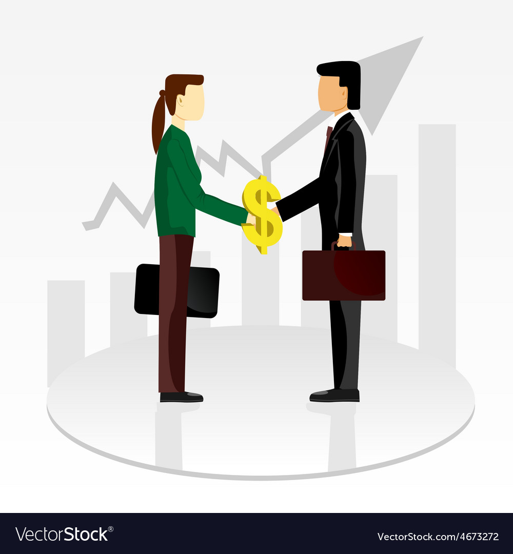 Business shaking hands vector | Price: 1 Credit (USD $1)