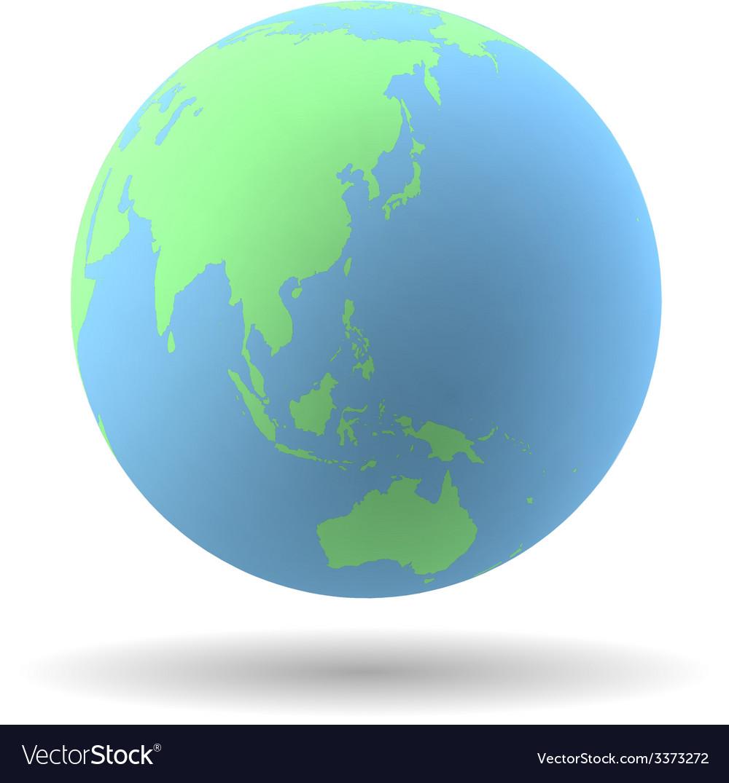 Earth globe vector | Price: 1 Credit (USD $1)