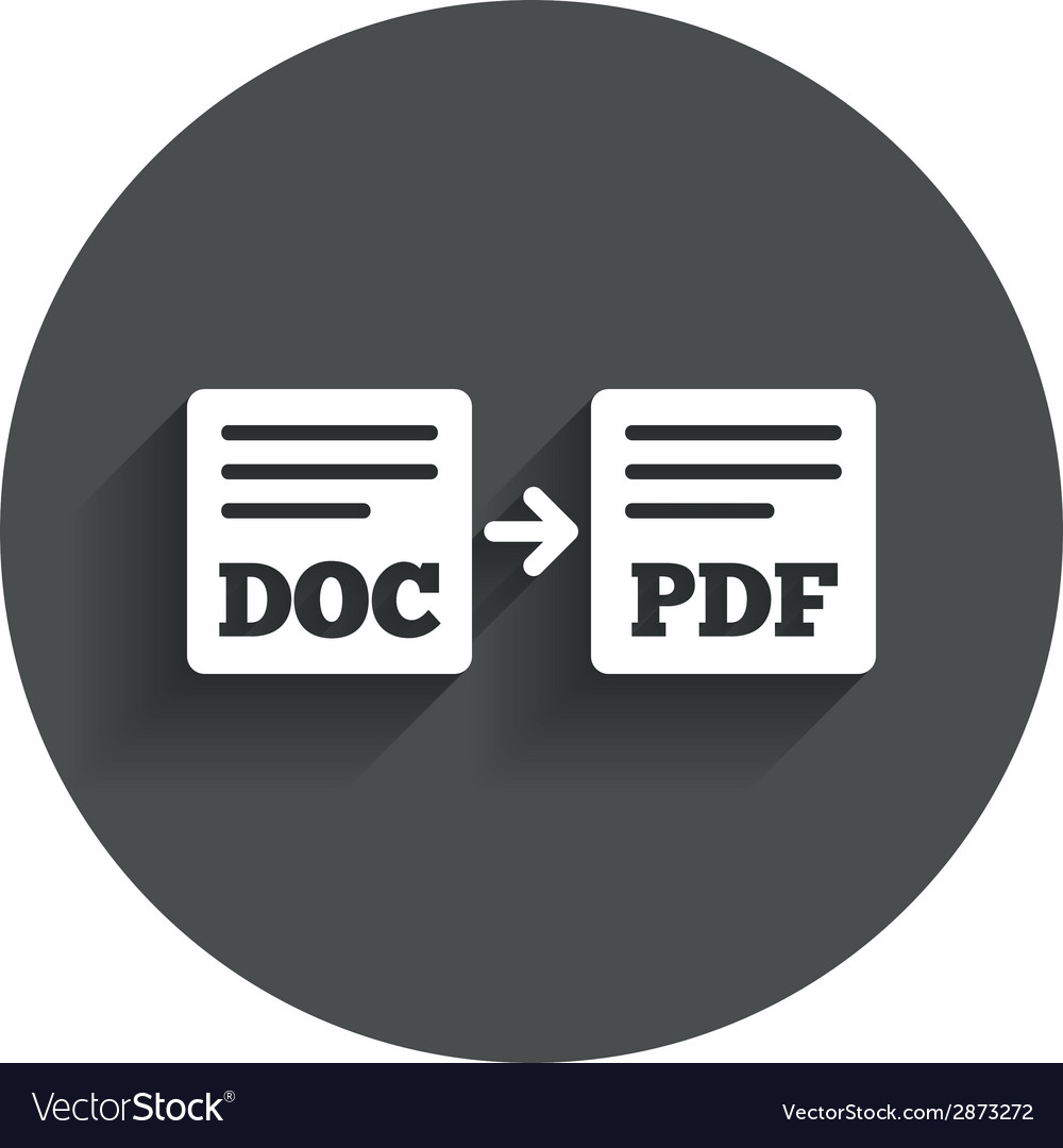 Export doc to pdf icon file document symbol vector | Price: 1 Credit (USD $1)