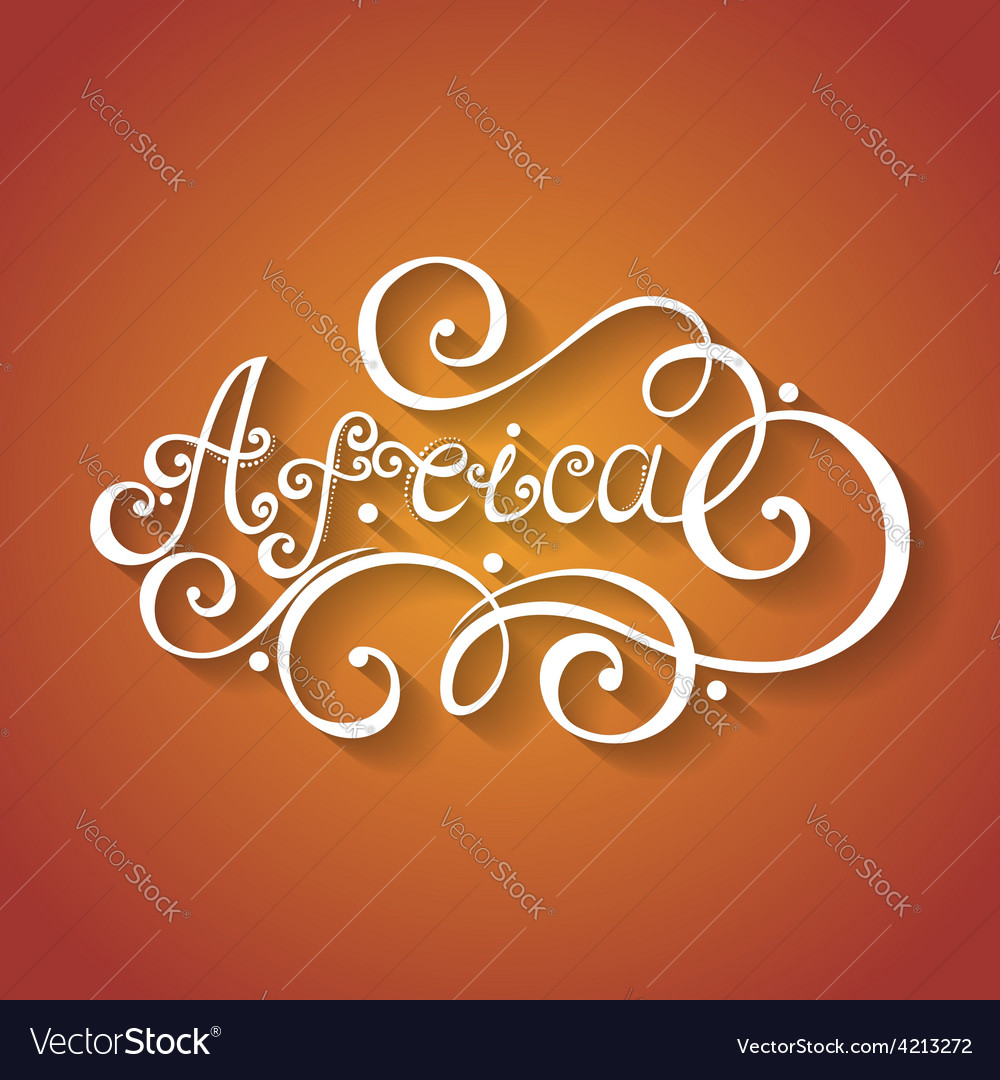 Fancy lettering design vector   Price: 1 Credit (USD $1)