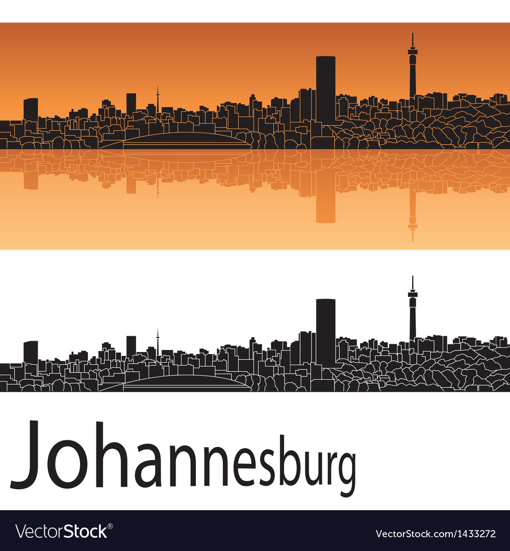 Johannesburg skyline in orange background vector   Price: 1 Credit (USD $1)