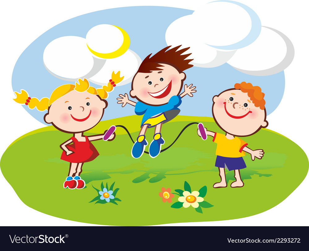 Kids on the lawn vector | Price: 1 Credit (USD $1)