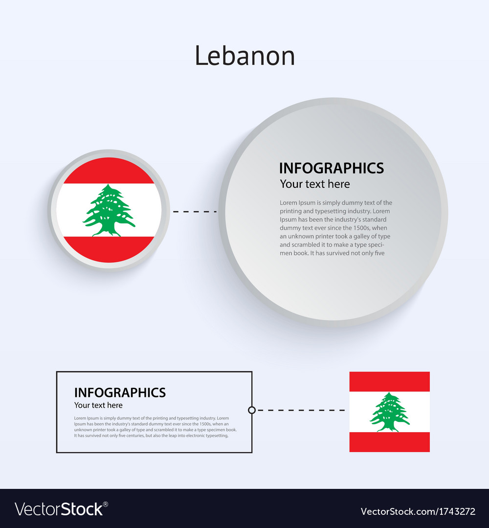 Lebanon country set of banners vector | Price: 1 Credit (USD $1)