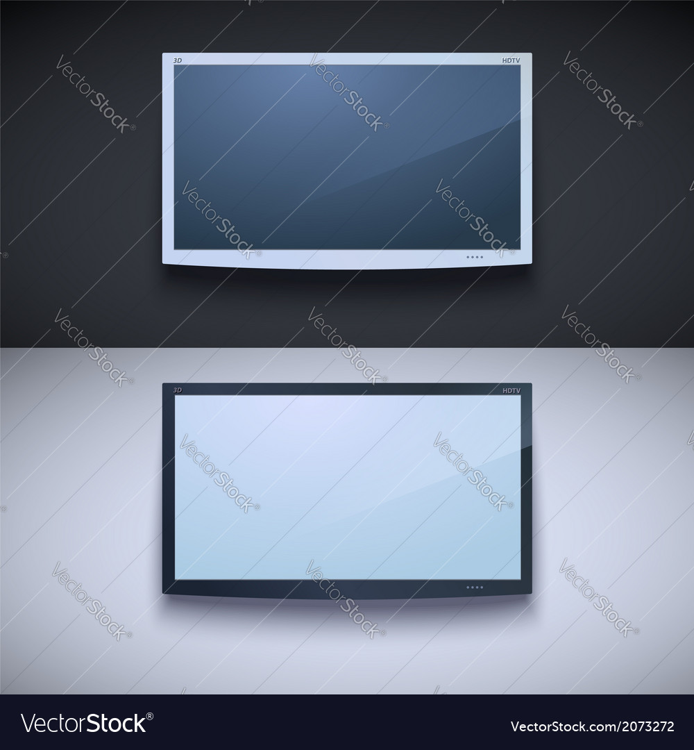 Led tv hanging on the wall vector | Price: 1 Credit (USD $1)