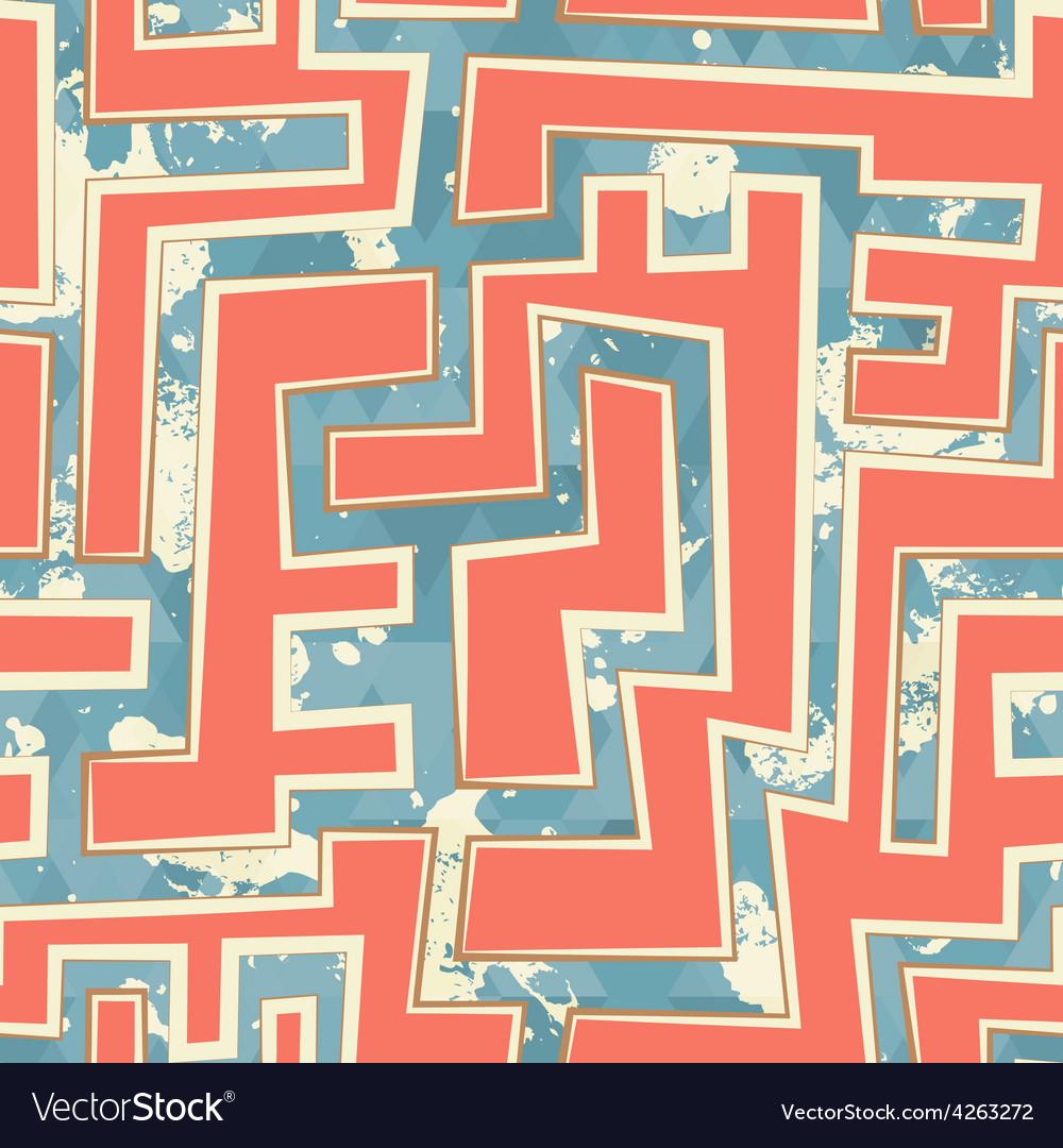 Orange geometric seamless pattern with grunge vector | Price: 1 Credit (USD $1)