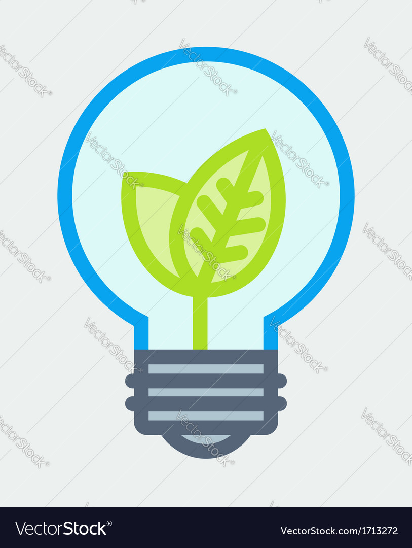 Young plant in light bulb poster vector | Price: 1 Credit (USD $1)