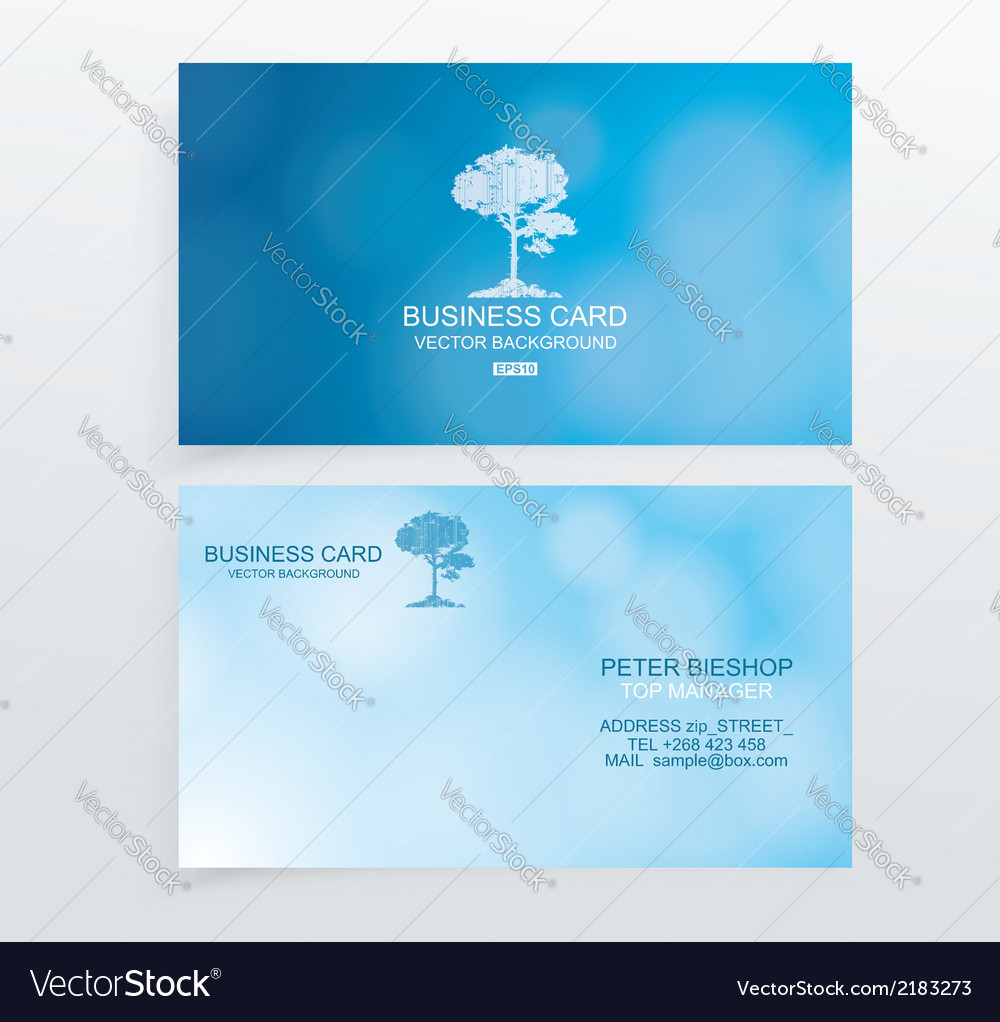 Business card set vector | Price: 1 Credit (USD $1)