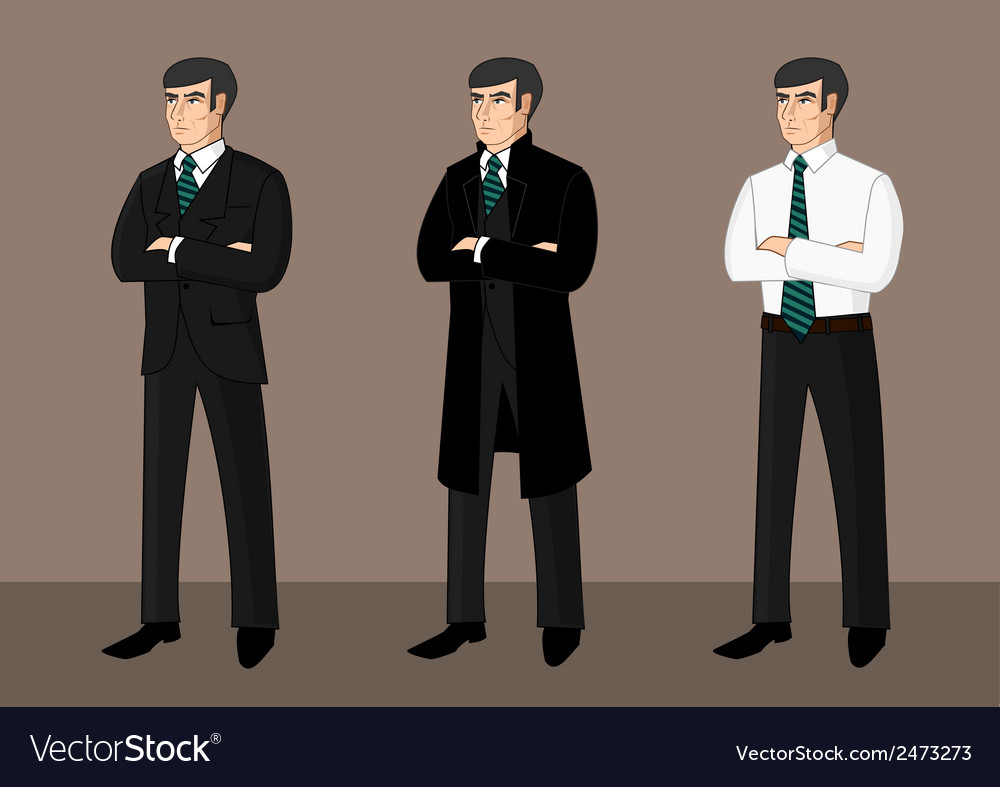 Collection of cartoon businessmen vector | Price: 1 Credit (USD $1)