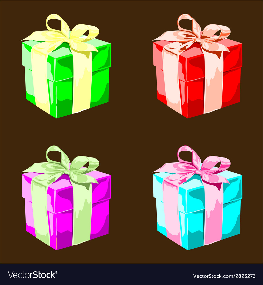 Colorful present boxes vector | Price: 1 Credit (USD $1)