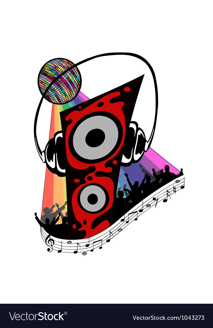 Colorful with music elements vector | Price: 1 Credit (USD $1)