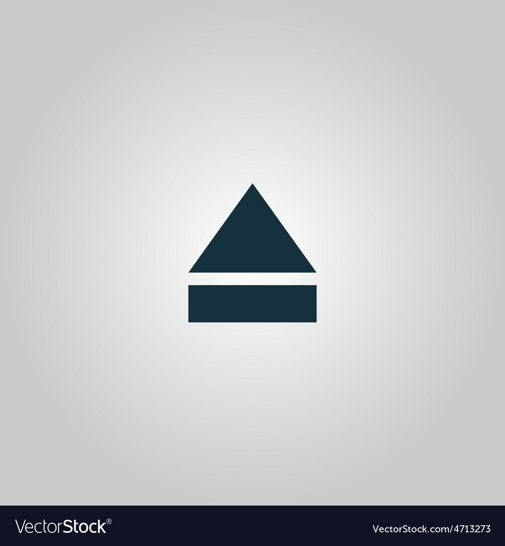 Eject or open player icon vector   Price: 1 Credit (USD $1)