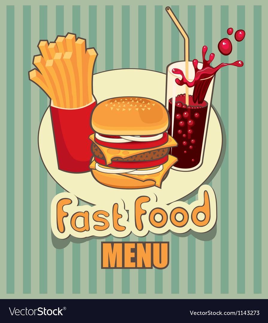 Fast food menu vector | Price: 3 Credit (USD $3)