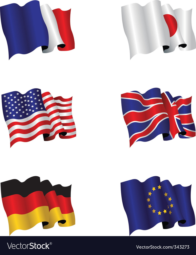 Flag set vector | Price: 1 Credit (USD $1)