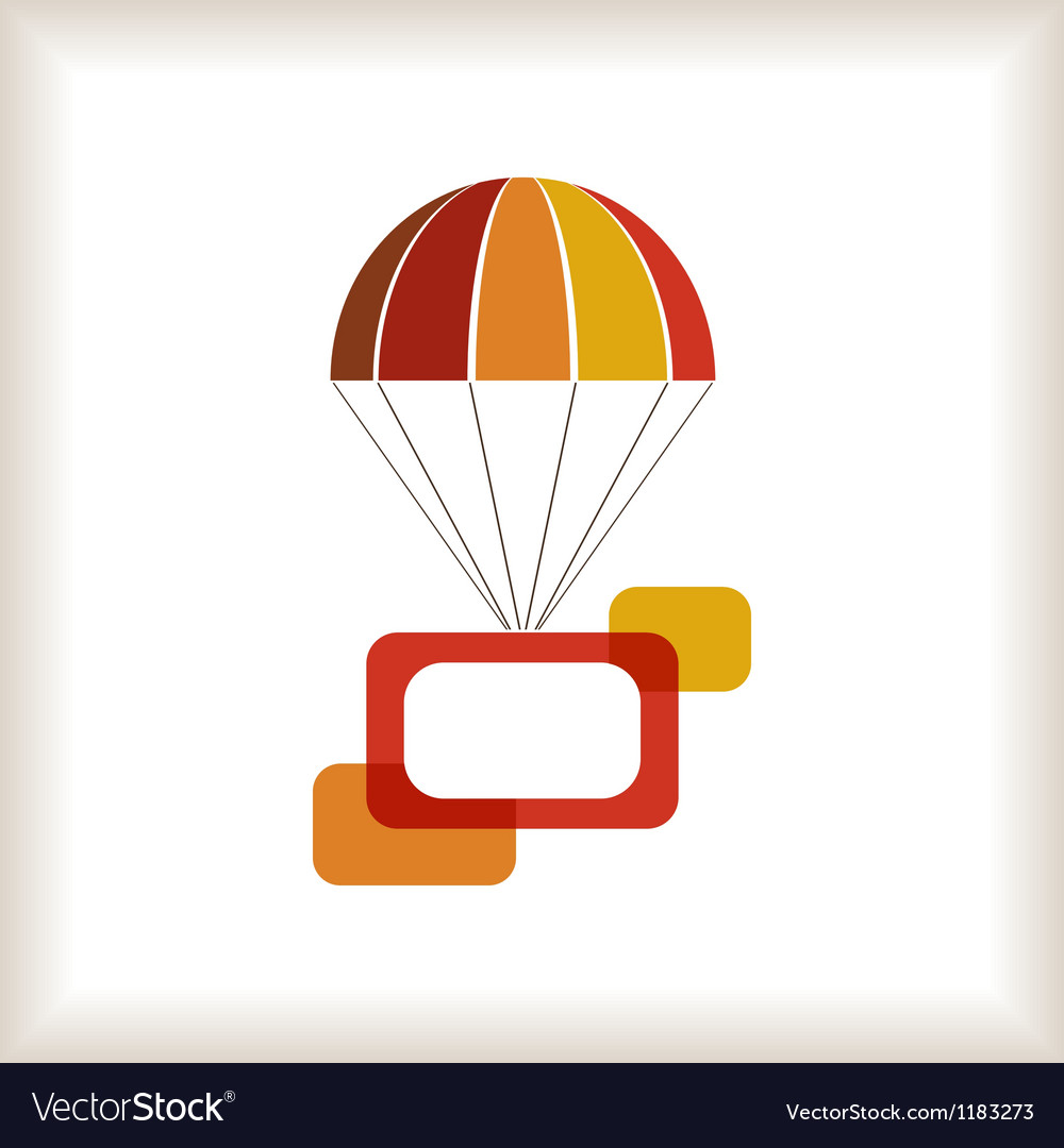 Flying parachute with frames composition vector | Price: 1 Credit (USD $1)
