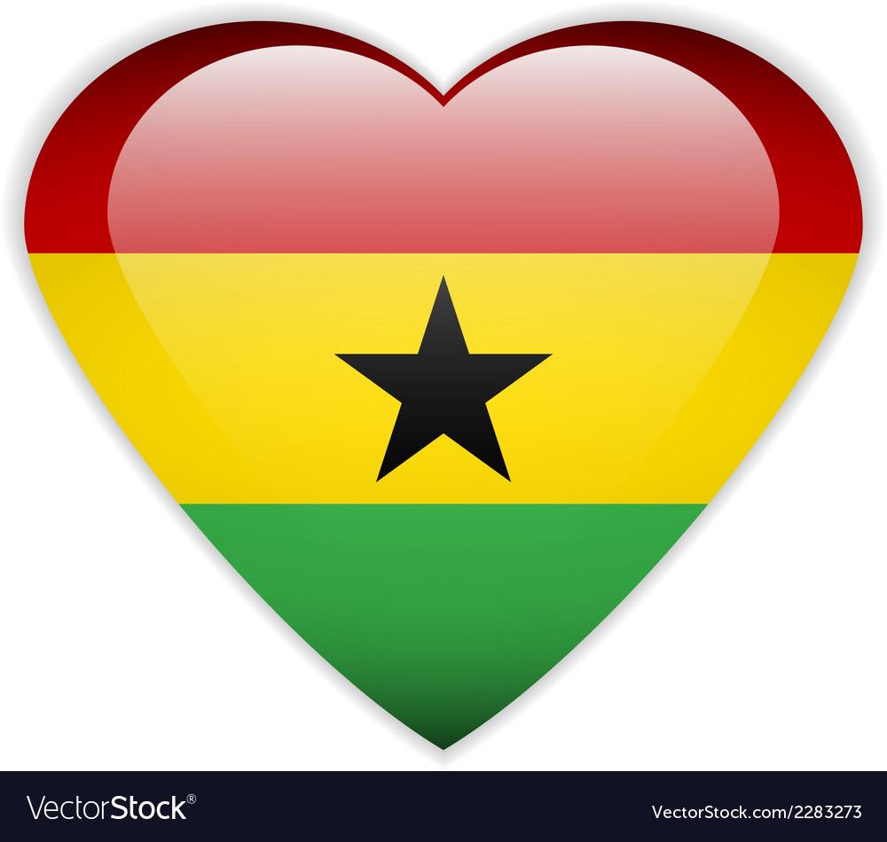 Ghana flag button vector | Price: 1 Credit (USD $1)