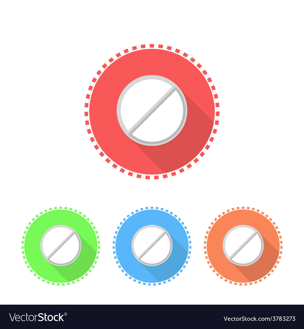 Icons of medical tablets vector | Price: 1 Credit (USD $1)