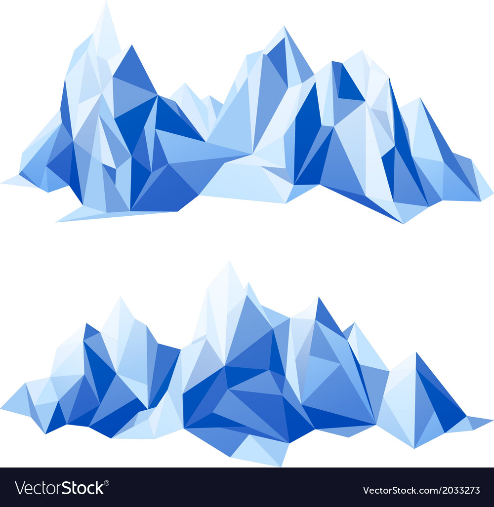 Mountain range in origami style vector | Price: 1 Credit (USD $1)