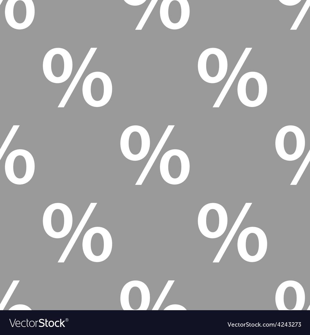 Percent seamless pattern vector | Price: 1 Credit (USD $1)