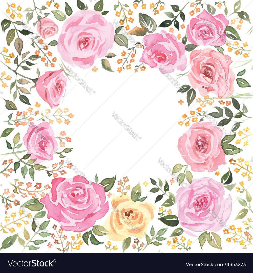 Postcard roses vector