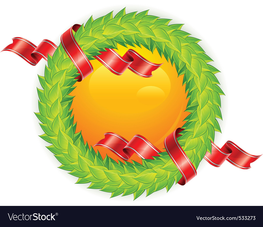 Round wreath vector | Price: 1 Credit (USD $1)